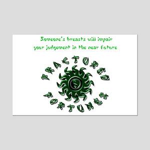 Impair Judgement (Green) Mini Poster Print