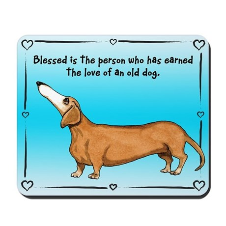 Old Dachshunds Mousepad