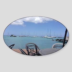 St. Croix USVI Boardwalk Sticker (Oval)
