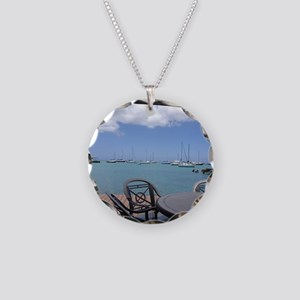 St. Croix USVI Boardwalk Necklace Circle Charm