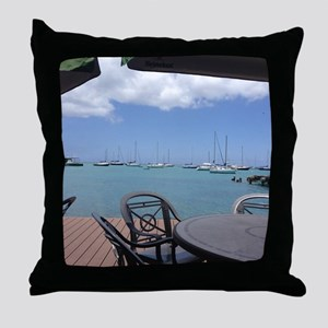 St. Croix USVI Boardwalk Throw Pillow
