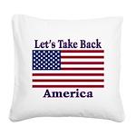 TakeBackAmerica Square Canvas Pillow