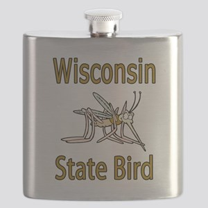 Wisconsin State Bird Flask
