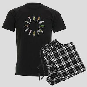 fishclock Men's Dark Pajamas
