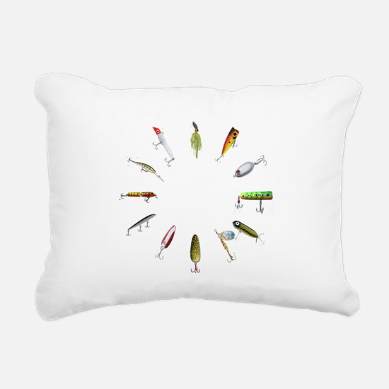 fishclock.png Rectangular Canvas Pillow