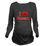 I Love Minnesota Long Sleeve Maternity T-Shirt