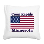 I Love Coon Rapids Square Canvas Pillow