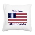 I Love Blaine Square Canvas Pillow