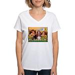 2 Angels & Basset Women's V-Neck T-Shirt