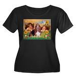 2 Angels & Basset Women's Plus Size Scoop Neck Dar