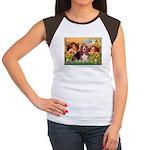 2 Angels & Basset Women's Cap Sleeve T-Shirt