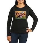 2 Angels & Basset Women's Long Sleeve Dark T-Shirt