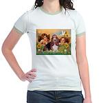 2 Angels & Basset Jr. Ringer T-Shirt