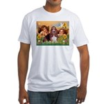 2 Angels & Basset Fitted T-Shirt