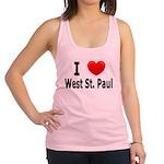 I Love WSP Racerback Tank Top