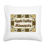 I Love Apple Valley Square Canvas Pillow