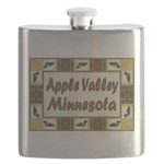 I Love Apple Valley Flask
