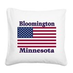 I Love Bloomington Square Canvas Pillow
