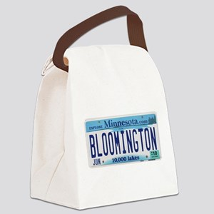BloomingtonLicensePlate Canvas Lunch Bag