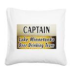 Lake Mtka Beer Square Canvas Pillow