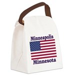I Love Minneapolis Canvas Lunch Bag