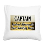 Minneapolis Beer Square Canvas Pillow