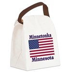 I Love Minnetonka Canvas Lunch Bag