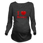 I Love Bovey Long Sleeve Maternity T-Shirt
