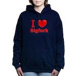 I Love Bigfork Women's Hooded Sweatshirt