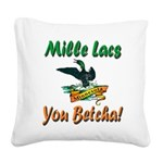 MilleLacsMinnesotaLoon Square Canvas Pillow