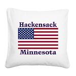 HackensackFlag Square Canvas Pillow
