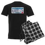 AlbertLeaMNLicensePlate Men's Dark Pajamas