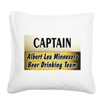 AlbertLeaBigBeer Square Canvas Pillow
