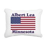 AlbertLeaFlag Rectangular Canvas Pillow