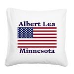 AlbertLeaFlag Square Canvas Pillow