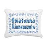 OwatonnaMinnesnowta Rectangular Canvas Pillow