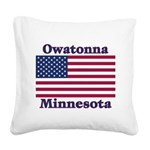 2-OwatonnaFlag Square Canvas Pillow