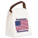2-OwatonnaFlag Canvas Lunch Bag