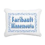 FaribaultMinnesnowta Rectangular Canvas Pillow