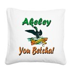 AkeleyMinnesotaLoon Square Canvas Pillow