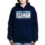 AkeleyLicensePlate Women's Hooded Sweatshirt