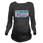 AkeleyLicensePlate Long Sleeve Maternity T-Shi