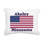 AkeleyFlag Rectangular Canvas Pillow