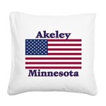 AkeleyFlag Square Canvas Pillow