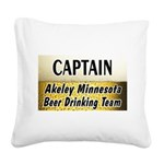 AkeleyBigBeer Square Canvas Pillow