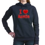 I Love Austin Women's Hooded Sweatshirt
