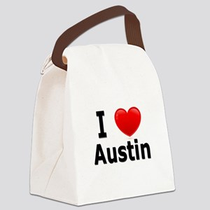 I Love Austin Canvas Lunch Bag