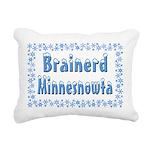 BrainerdMinnesnowta Rectangular Canvas Pillow