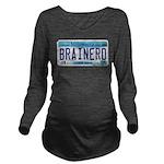 BrainerdLicensePlate Long Sleeve Maternity T-S