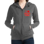 2-I Love Detroit Lakes Women's Zip Hoodie